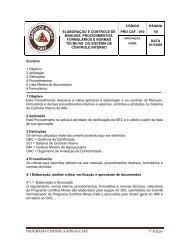 Elaboração e controle de manuais, procedimentos, formulários e ...