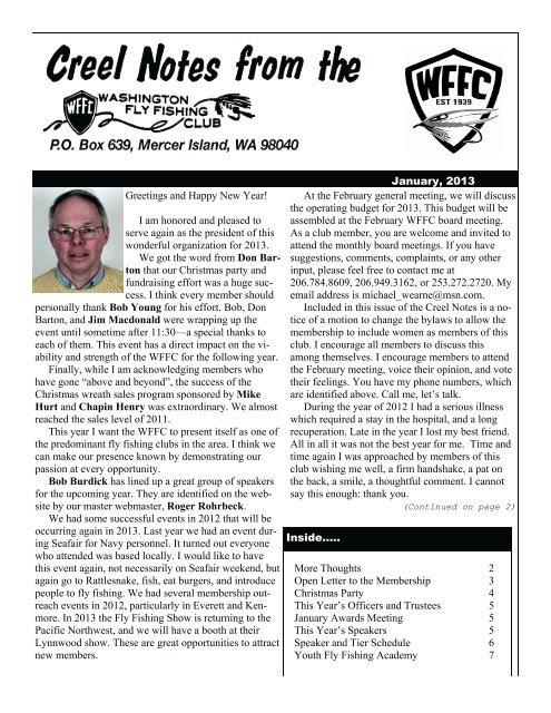 January - Washington Fly Fishing Club