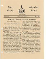 Bulletin Vol 13 - Essex County Museum