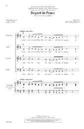 Words based Luke 2:29-32 SOPRANO ALTO TEN ... - Pine Lake Music