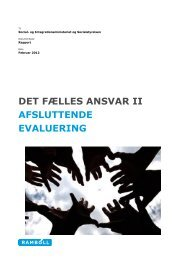 DET FÆLLES ANSVAR II AFSLUTTENDE EVALUERING - Social