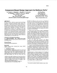 Component-based design approach for multicore SoCs - Design ...