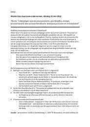 Uitdagingen voor de procesindustrie ... - Provincie Zeeland