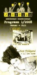 Jazztime Programm Fruehjahr 2008