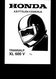 XL600V 1996 käsikirja (.pdf, 2.16 MB) - Honda