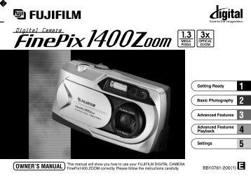 FinePix 1400 Zoom Manual - Fujifilm Canada