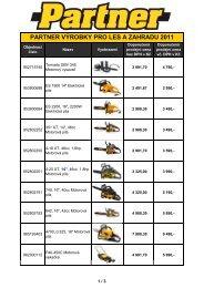Ceník Partner & Flymo celky (stroje) 2011-01-11