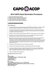 Nomination Procedures 2010 - CAPO.ca