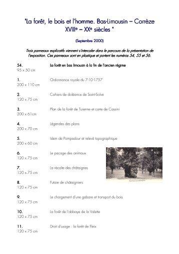 La forêt - Archives départementales Corrèze