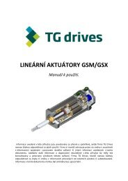 GSM/GSX manuál - TG Drives
