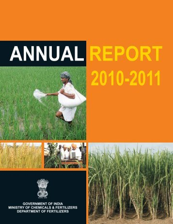 Annual report 2010-2011 - Department of Fertilizers