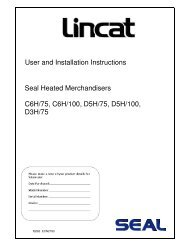 User and Installation Instructions Seal Heated Merchandisers C6H ...