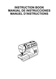 instruction book manual de instrucciones manuel d ... - Janome