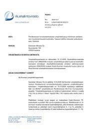 Päätös ASIA Penikkanevan turvetuotantoalueen ympäristölupa ja ...