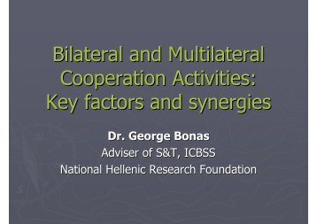 Bilateral and Multilateral Cooperation Activities: Key factors and ...