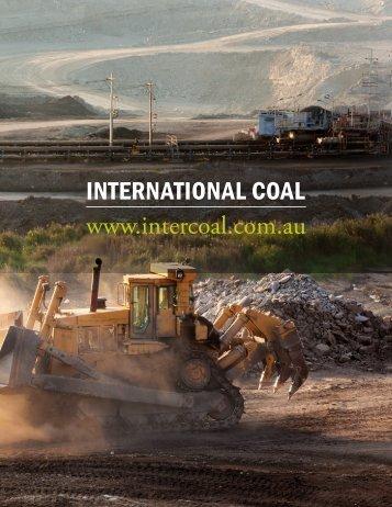 INTERNATIONAL COAL www.intercoal.com.au - The International ...