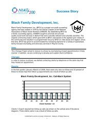 Success Story Black Family Development, Inc. - NIATx