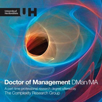 Find out more about the DMan. - University of Hertfordshire