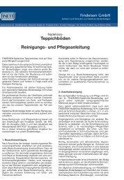 Teppichböden Reinigungs- und Pflegeanleitung - Paul Geißler GmbH