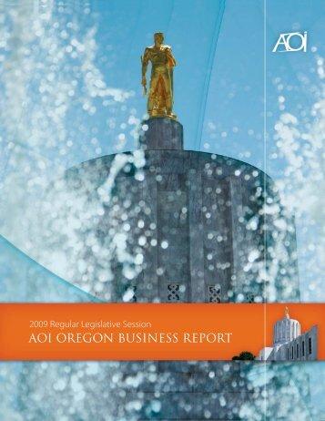 AOI OREGON BUSINESS REPORT