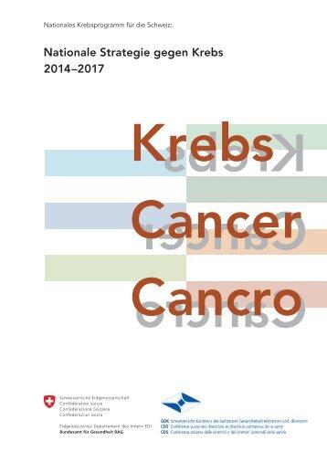 Nationale Strategie gegen Krebs - Oncosuisse