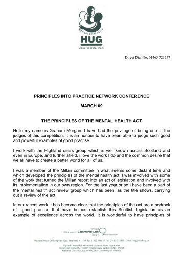 PRINCIPLES INTO PRACTICE NETWORK CONFERENCE ... - HUG