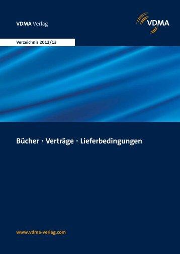 Bücher • Verträge • Lieferbedingungen - VDMA-Shop