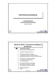 LE01.pdf - Lehrstuhl für Wirtschaftsinformatik