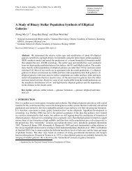 A Study of Binary Stellar Population Synthesis of Elliptical Galaxies ∗