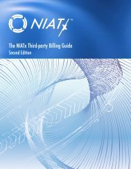 The NIATx Third-party Billing Guide