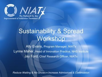 Sustainability & Spread Workshop - NIATx