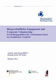 Bürgerschaftliches Engagement und Corporate Volunteering –