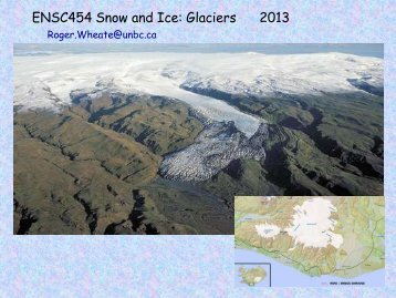 Week 7: Introduction to Glaciers