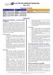 Mars 2011 - Efigest Asset Management