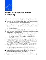 Informationen - Mountain Wilderness Schweiz