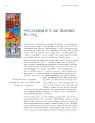 Rebounding in Small Business Banking - McKinsey & Company