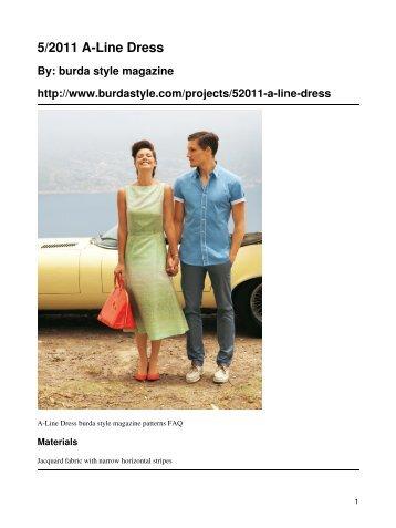 5/2011 A-Line Dress - BurdaStyle.com