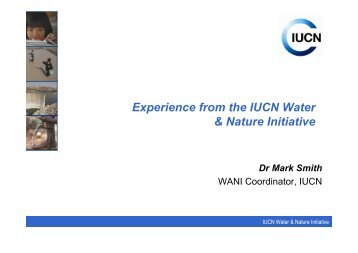 Experience from the IUCN Water & Nature Initiative - ETH - North ...