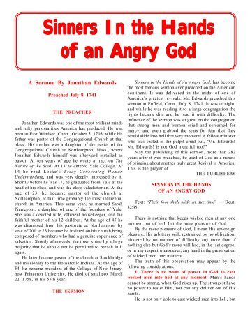 "a literary analysis of analyzing sinners in the hands of an angry god by jonathan edwards From sinners in the hands of an angry god by: jonathan edwards from ""sinners in the hands of an angry god literary response & analysis questions."