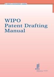 WIPO Patent Drafting Manual
