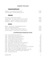 WINES BY THE GLASS - Pinons