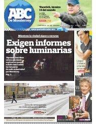 Exigen informes sobre luminarias - Periodicoabc.mx