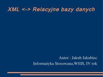XML  Relacyjne bazy danych - Fatcat