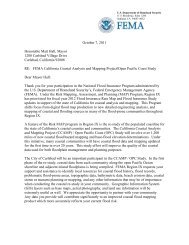 City of Carlsbad OPC Study Case Initiation Letter - FEMA Region 9