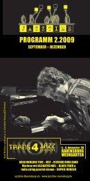 Jazztime Programm Herbst 2009
