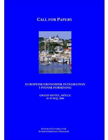 CALL FOR PAPERS - SNEE