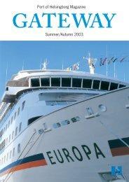 Port of Helsingborg Magazine Summer/Autumn 2003 - Helsingborgs ...