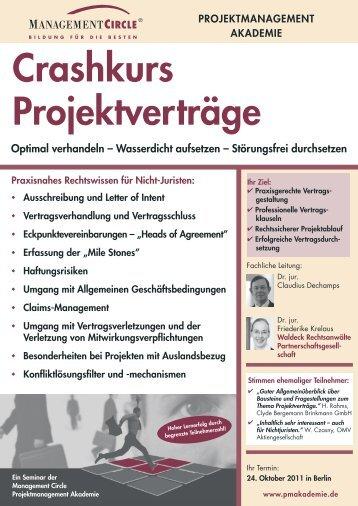 Crashkurs Projektverträge - Waldeck Rechtsanwälte ...