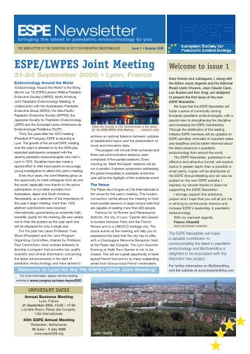 Download Issue 1 (PDF) (1.46mb) - European Society for Paediatric ...