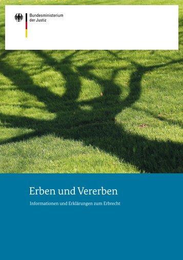 Erben und Vererben - VRB Verein der Rechtspfleger im Bundesdienst